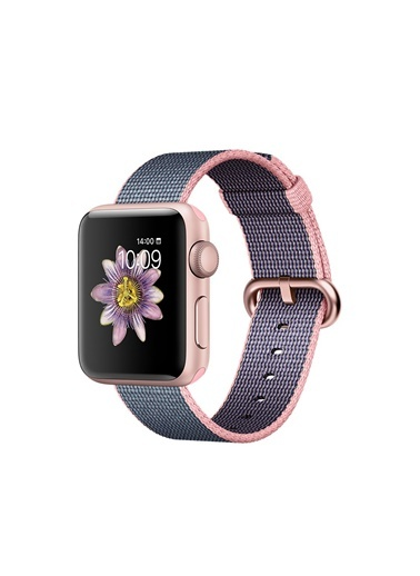 Seri 2 38mm Roze Alüminyum Kasa Naylon Kordon-Apple